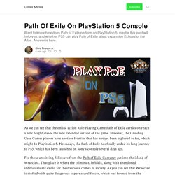 Path Of Exile On PlayStation 5 Console - Chris's Articles