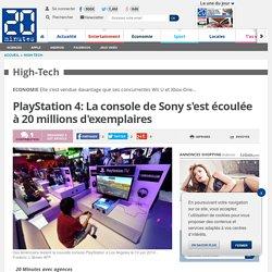 PlayStation 4: La console de Sony s'est écoulée à 20 millions d'exemplaires