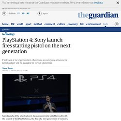 PlayStation 4: Sony launch fires starting pistol on the next generation