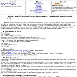Playstation 3(PS3) Debian squeeze Tutorial