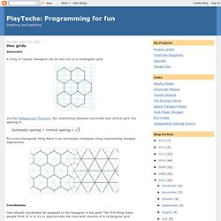Programming for fun: Hex grids