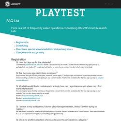 Playtest - Ubisoft