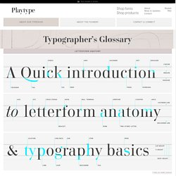 Typographer's Glossary