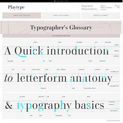 Playtype | Typographer's Glossary