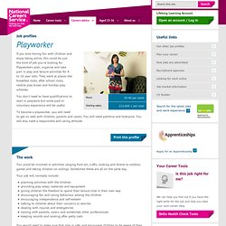 Playworker Job Information