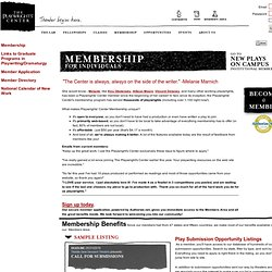 The Playwrights' Center - Membership