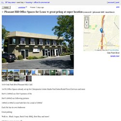 Pleasant Hill Office Spaces for Lease w great prkng at super location