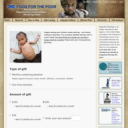Please Donate Today - Food For The Poor - Donate to feed the hungry and poor in Latin America and the Caribbean. Help End Hunger!