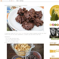 No-Bake Chocolate Crunch Cookies