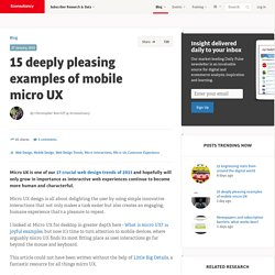 15 deeply pleasing examples of mobile micro UX