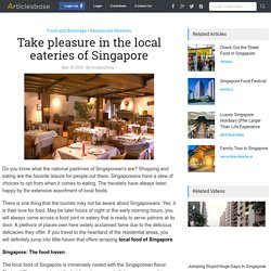 Best local food in Singapore city