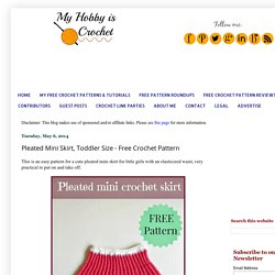 Pleated Mini Crochet Skirt, Toddler Size - Free Crochet Pattern