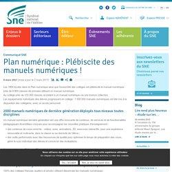 Plan numérique : Plébiscite des manuels numériques !