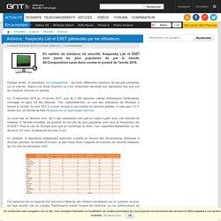 Antivirus: Kaspersky Lab et ESET plébiscités par les utilisateurs