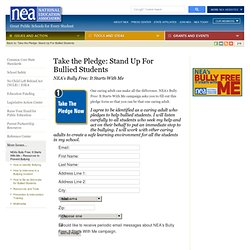 Take the Pledge: Stand Up For Bullied Students