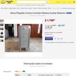 Mesa Plegable Cocina Comedor Madera Auxiliar Melamin - $ 1.790,00 en MercadoLibre