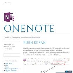 Plein écran – OneNote