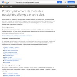 Aide d'experts Blogger - Centre d'aide Blogger