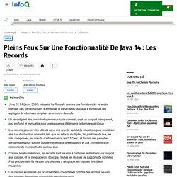 Pleins Feux Sur Une Fonctionnalité De Java 14 : Les Records