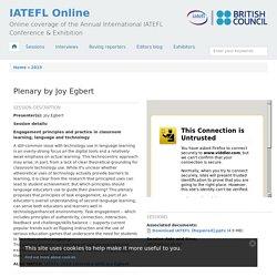 Plenary by Joy Egbert