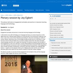 Plenary session by Joy Egbert