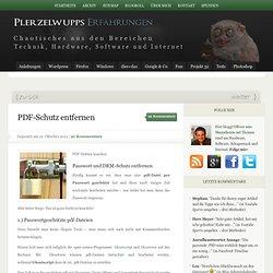 PDF-Schutz entfernen - Plerzelwupps Erfahrungen