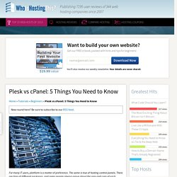 Plesk vs cPanel: 5 Things You Need to Know