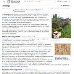 Plessage sur Wikipédia