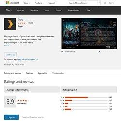 Plex – Windows Apps on Microsoft Store
