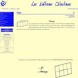 Pliage - Les Éditions Célestines