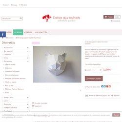 Kit de pliage papier trophée Ours blanc