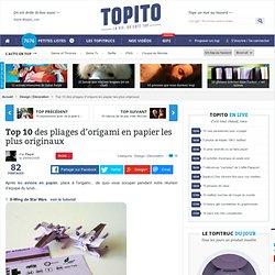 Top 10 des pliages d'origami en papier les plus originaux