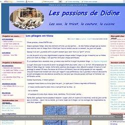 Les pliages en tissu - Les passions de Didine73