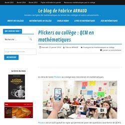 Plickers au collège : QCM en mathématiques