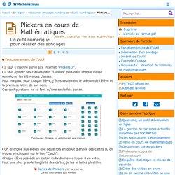 Plickers en cours de Mathématiques- Mathématiques