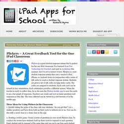 Plickers – A Great Feedback Tool for the One iPad Classroom