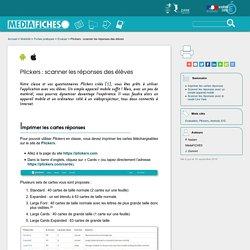 Plickers : scanner les réponses des élèves