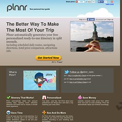 Plnnr - plan the perfect trip, automatically! - StumbleUpon