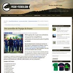 Pêche à la plombée : équipe de France et championnat du monde