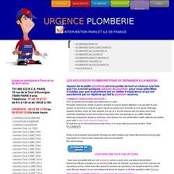 ASTUCES DE PLOMBERIE POUR REPARER SOI MEME UNE URGENCE-01 48 78 47 27-URGENCEPLOMBERIE.COM