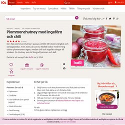 Plommonchutney med ingefära och chili