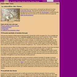 Plongée sous-marine : La saturation des tissus
