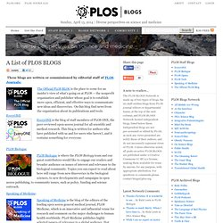 The PLoS Blogs Network | PLoS Blogs Network