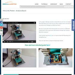 Mini CNC Plotter - Arduino Based - Ardumotive Arduino Greek Workshop