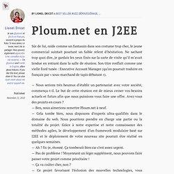 Ploum.net en J2EE
