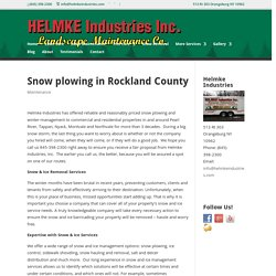 Snow plowing in Rockland County