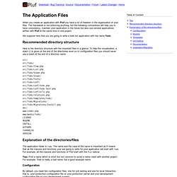 The Application Files