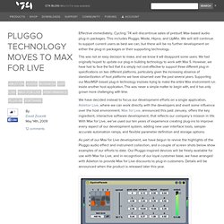 Pluggo Technology Moves to Max for Live