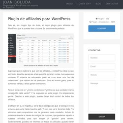 Plugin de afiliados para WordPress - Joan Boluda