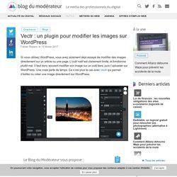 Vectr : un plugin pour modifier les images sur WordPress